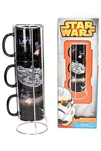 SD Toys SD Toys - Mugs Star Wars Empilables - Death Star and Millenium Falcon Battle - 8436546896401
