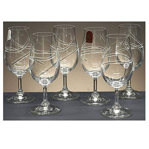 Set de 6 Coupes en Verre Taste-vin, taillées à la Main, Collection 40336\