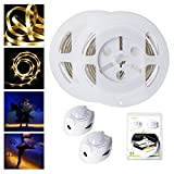 Bewegung aktiviert Bett Licht, ALED LIGHT Flexible LED Streifenlicht, Auto Ein/Aus Bewegungsmelder Nachttischlampe, Bewegung aktivierte LED-Lichtleiste (1.2M *2 Warmweiß)