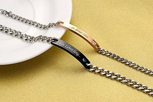 NEHZUS Sein und ihr Edelstahl-Paar-Armband