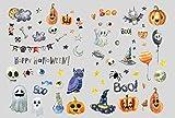 Partycards Halloween Set de Pegatinas Calcomanías para Niños y Niñas Calcomanías Álbum Decoración Regalos Niños Calabaza Horror Esqueleto Fantasma Ojos Araña