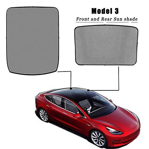 Tesla Model 3 Schiebedach Sonnenschutz Glasdach Sonnenschutz Oberlicht Blind Shading Net für Tesla Model 3 (2PCS)