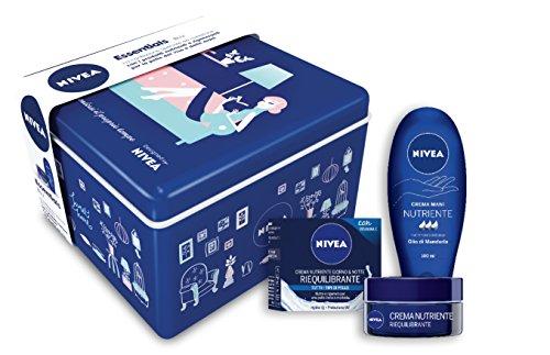 Nivea Gifpack Essential Blu, Set Regalo Crema Viso...