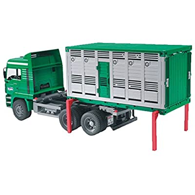 Bruder 02749 - Camión MAN para transporte de animales (incluye una vaca) por Bruder