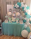 PuTwo Luftballons 56 Stück Taufe Ballons Baby Shower Ballons Latex Luftballons & OH BABY Folien Buchstabenballons Party Deko für Junge Taufe Baby Shower Babyparty Junge - Silber & Weiß & Macaron Grün