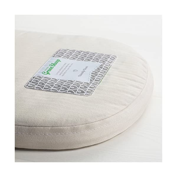The Little Green Sheep Natural Mothercare Moses Basket Mattress (28 cm x 75 cm)  Coconut Coir: Provides Natural Spring and Support Wool: Naturally Anti-Allergy and Breathable A firm, comfortable support as recommended by experts 3