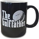 The Golf Father Black Mug Cup