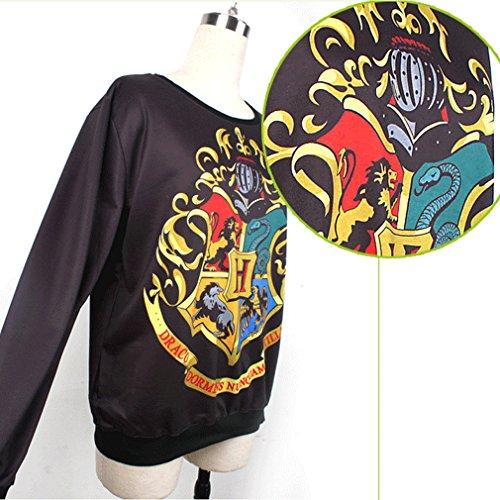 Thenice Pull à imprimé numérique pour femme Sweat-shirt Multicolore - Cartoon
