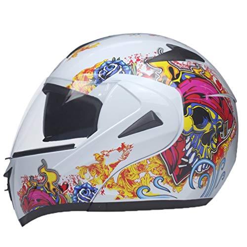 Flip Up Motorradhelme Erwachsene Dual Visier System Anti Fog Wind Sand Full Face Motorrad Helm Outdoor Sicherheit Caps Hut für Motocross Mountainbike ()