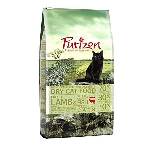 Purizon Premium Erwachsenen-Trockenfutter für Katzen–Lamm & Fisch (6,5kg)