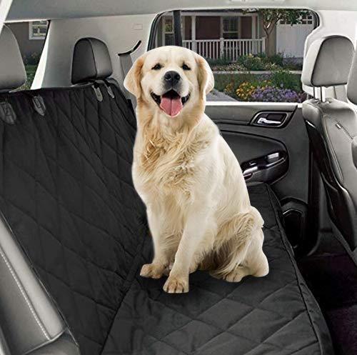 AmorFA Autositzbezug für Hunde, wasserdicht Kratzfest und rutschfest Rücksitzbezug, Auto-Hängematte für Hunde universell für alle Autos Hundedecke Rückbank