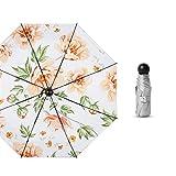 LYJZH Regenschirm Taschenschirm, kompakter tragbarer,geeignet für Männer und Frauen 50% Kapsel Titansilber Sonnenschirm Farbe6 95cm