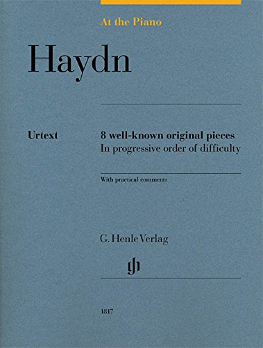 At the Piano - J. Haydn: 8 well-known original pieces - Piano - Score - (HN 1817) par Joseph Haydn