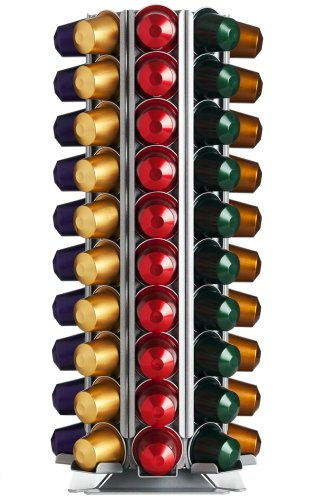 Distributore di capsule, Porta capsule Döring CoffeeTower N80 argentato per capsule Nespresso