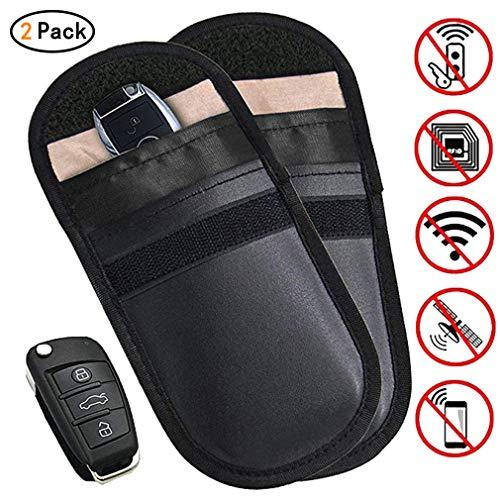 AidShunn 2 X Autoschlüssel Signalblocker Cases schlüssellose Faraday-Tasche zum Blockieren der Tasche Schutz-Sicherheitstasche