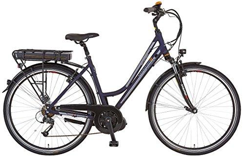 Prophete Damen Elektrofahrrad E-Bike Alu-Trekking 28 Zoll E-Novation Navigator 6.5, nachtblau matt, 50, 52446-0111