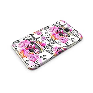 Cover Affair Girlie / Girly Printed Designer Slim Light Weight Back Cover Case for Samsung Tizen Z3 (Black & White & Pink)