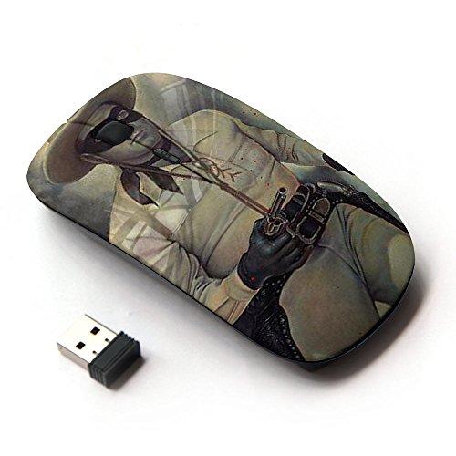 Preisvergleich Produktbild XP-Tech [ Optische 2.4G kabellos Maus ] - Retro Bandit Gun Saloon