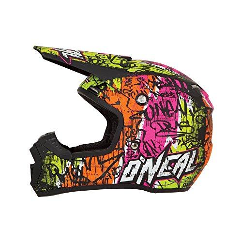 O'Neal 5Series MX Helm Vandal Schwarz Neon Gelb Motocross Enduro Offroad, 0618V-21, Größe Medium (57-58 cm)