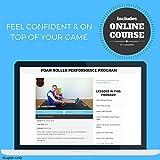Fit Nation Faszienrolle – Foam Roller Set zur Selbstmassage mit Übungsbuch – Sport Massagerolle Für Anfänger, Profis, Damen & Herren – Orange - 4