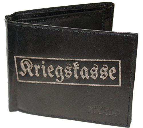 Kriegskasse - Herrengeldbörse Rindleder (Rindleder Geldbörse Herren)