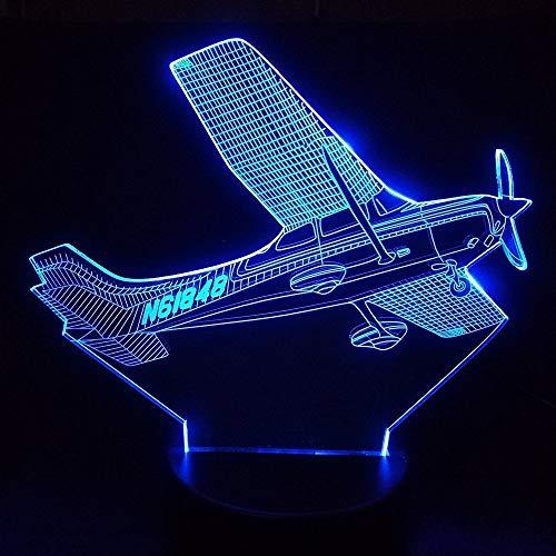 3D Illusion Flugzeug nachtlicht Touch-schalter 7 Farbwechsel Flugzeug Stimmung Lampe Schreibtisch Tisch Atmosphäre Lampe Für Wohnkultur Geschenk ## 7 -