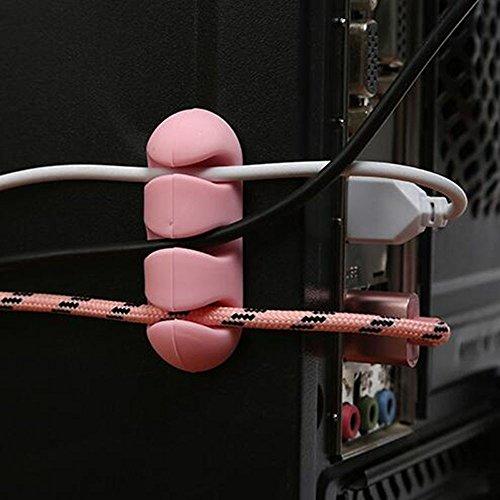 Altsommer Kabelclip Halter für die Organisation von Kabelbindern zu Hause und im Büro Kompatibel mit Kopfhörer Headset Wire Wrap Kabelaufwicklung Organizer Cable Collector Silica - 2 Stk - Rubbermaid Organizer Schublade