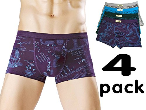 Wirarpa Mens Boxers Shorts Modal Trunks Underwear Size M Pack of 4