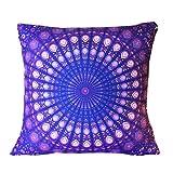 Bluester Colorful Print Pillow Case Sofa Waist Throw Cushion Two-Side Cover Home Decor Pillowcase (A)