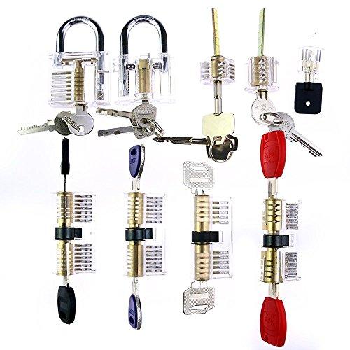 Lockmall Master-Set da 9 pezzi di serrature famiglia trasparente per pratica giocatori