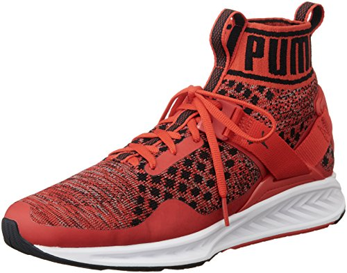 Puma Unisex-Erwachsene Ignite Evoknit Laufschuhe, Rot (High Risk Red-Quiet Shade Black 02), 42.5 EU