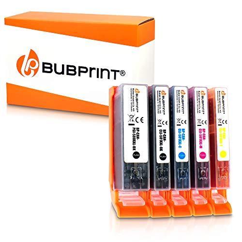 5 Bubprint Druckerpatronen kompatibel für Canon PGI-580 CLI-581 Pixma TR8550 TS6150 TS8150 TR7550 TS8250 TS9550 TS6250 TR8500 TS8151 TS6100 TS6151 Multipack