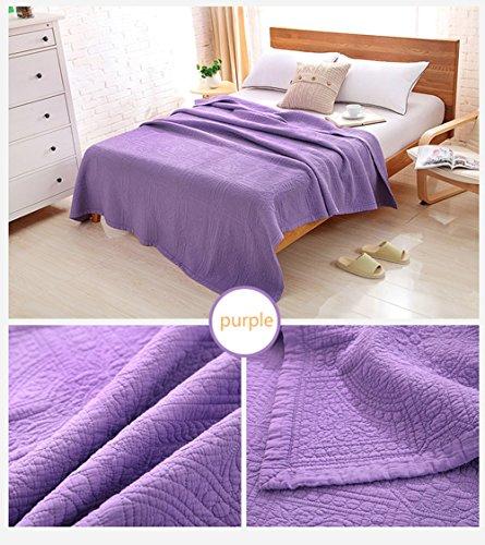 Alicemall Couverture Couvre-lit Dessus de Lit Matelassé 200x230 Courtepointe Boutis Jeté de Lit 2 personnes (Violet)
