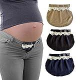 db09a3437 Yi Zhou Cinturón para el Vientre Combo Maternity Belly Band Pantalones  elásticos Ajustables Mujeres Embarazadas Solución para Embarazadas