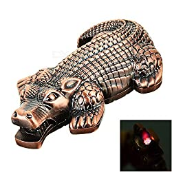 Stylish Metal Crocodile Look Refillable Cigarette Lighter