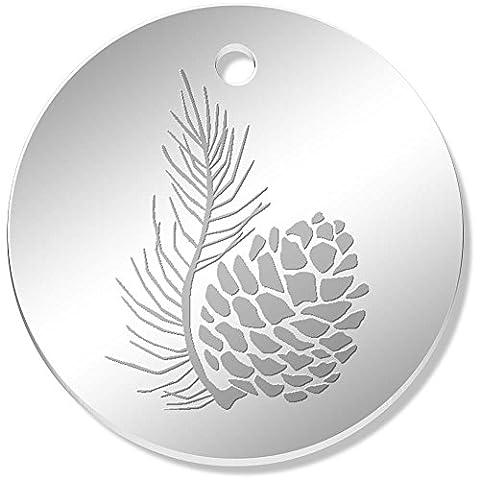 11 x 34mm 'Pine Cone' Mirror Pendants / Charms (PN00024284)