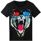 SoooEC LED T-Shirt für Party Hiphop Cosplay Konzert Geburtstagsgeschenk Beste Christmas Kostüm Sound Aktiviertes Equalizer Shirt DJ T-Shirt