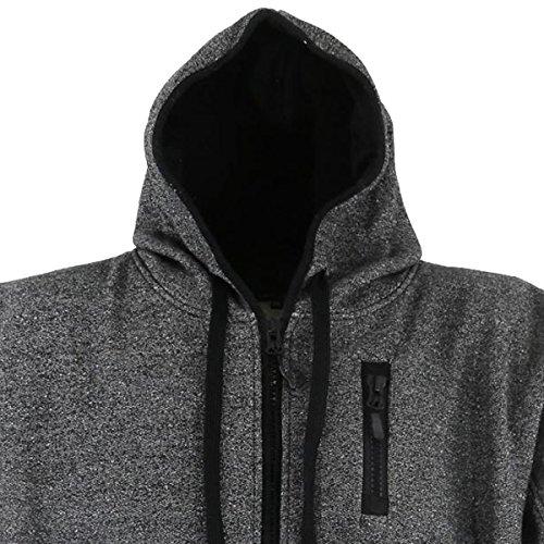 Klassische Sweatshirt Jacke mit Kapuze in Übergröße von Lavecchia in den  Größen 3XL bis 8XL Anthrazit 36a5253356