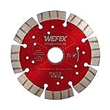 WEFEX Diamant-Trennscheibe Supersonic 125 mm x 22,2 mm Betonprodukte Mauersteine Mauerwerk Basalt Kalksandstein für Winkelschleifer
