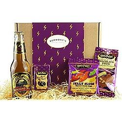 Scatola Harry Potter Selezione Premium - Birra Al Caramello Analcolica, Chocolate Frog, Jelly Belly Bertie Bott's Beans E Jelly Slugs - Cesta In Esclusiva Per Burmont's