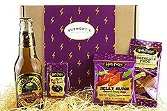 Idea Regalo - Scatola Harry Potter Selezione Premium - Birra Al Caramello Analcolica, Chocolate Frog, Jelly Belly Bertie Bott's Beans E Jelly Slugs - Cesta In Esclusiva Per Burmont's
