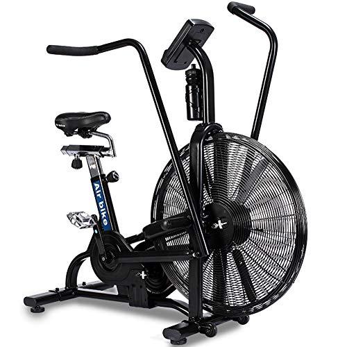 GFDDZ Air Bike | Fan Heimtrainer mit uneingeschränktem Widerstand | Indoor Cycling Bike | Standrad | Verstellbarer Sattel, LED-Anzeige, Profi-Heimtrainer für den Heim- und Fitnessbereich