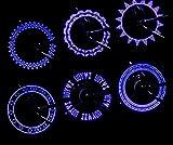 Fahrradventilkern Gasdüsenlampe beleuchtet Radlichter Reifen Licht Warnlicht Reiten 2ST