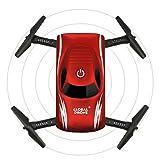 Dailyinshop Mini Faltbare Sprachsteuerung RC Drohne mit Kamera HD Wifi FPV 4-achs Quadrocopter Selfie Drone Professionelle Headless Modus Drone