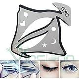Stencil guida eyeliner mascherina linea forma occhi palpebra trucco make up immagine