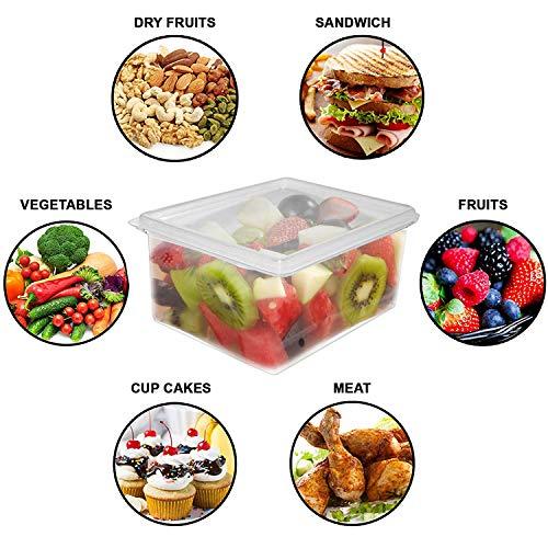 Kurtzy Frischhaltedosen (3 Pack) - 1500ml Acryl Plastik Vorratsbehälter mit Abtropfgitter für Fleisch, Gewürze, Gemüse, Obst, Schrank Lagerung -