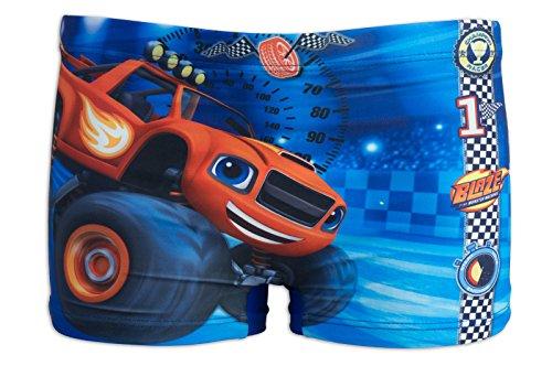 Blaze e le mega macchine - costume costumino 1 pz boxer full print - mare piscina - bambino - novità prodotto originale 8691re [blu - 3 anni - 98 cm]