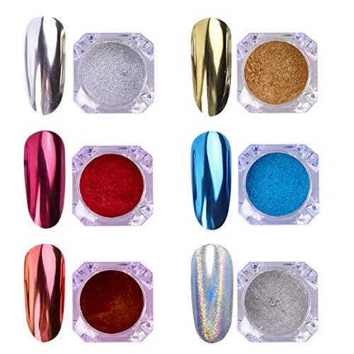 AIMEILI 6 colors Polvo Acrilico Para Uñas Colores