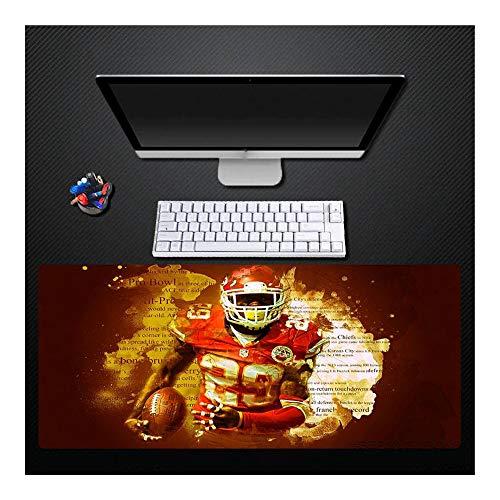 Mauspad, Original Design Rugby-Spieler Briefdruck Übergroße wasserdichte gepolsterte Gummi-Mauspad Tastatur-Pad Home-Office-Gamepad Geschenk, 400X800Mm - 400 Rugby