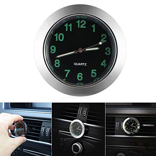 Auto Uhr Auto Air Vent Clip Uhr Automobil Leuchtende Armaturenbrett Uhr Auto Innen Quarz Analog-sliver